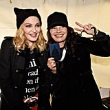 Pictured: Madonna and Fran Drescher