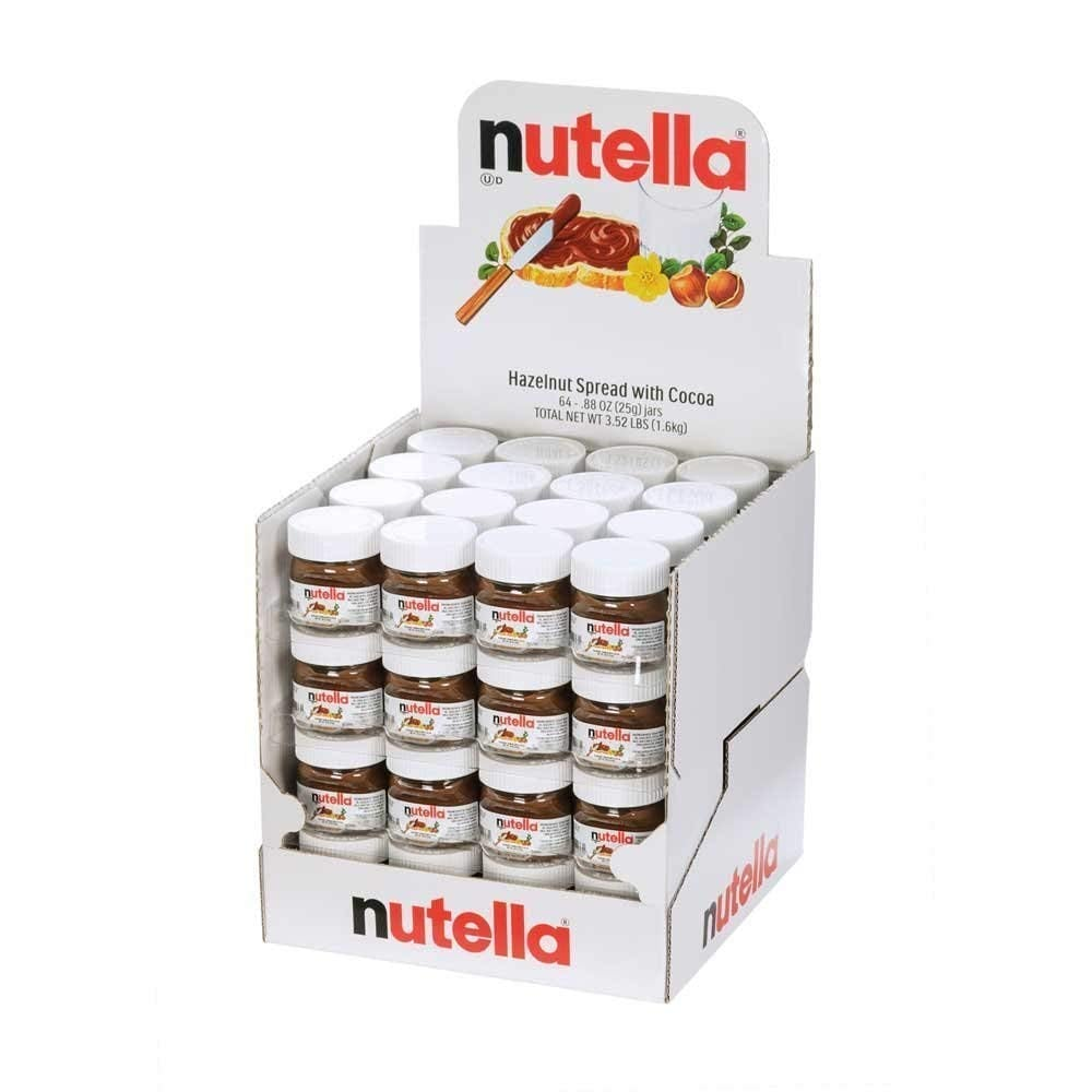 Nutella Mini Glass Bottles