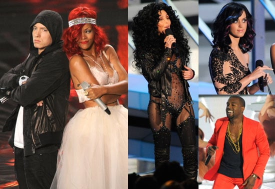 Pictures of Eminem, Usher, Mary J Blige, Rihanna, Lady Gaga, Taylor Swift During 2010 MTV VMAs Show 2010-09-12 22:37:44