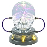 Hyde and Eek! Boutique Skull Plasma Ball With LED Bulb