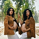 These sisters served serious looks during their collaborative maternity shoot.