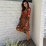 Emily Ratajkowski Opted For a DVF Wrap Dress and Saint Laurent Booties