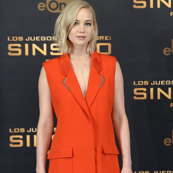 Jennifer Lawrence Wearing an Orange Vest
