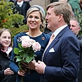Queen Máxima and King Willem-Alexander in Nuremberg, Germany.