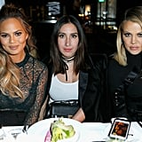 Chrissy Teigen and Khloé Kardashian joined hairstylist Jen Atkin at a Hollywood Reporter event.