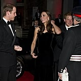 Will and Kate kept their eyes on each other as they arrived with Prince Harry at the Sun Military Awards in December 2011.