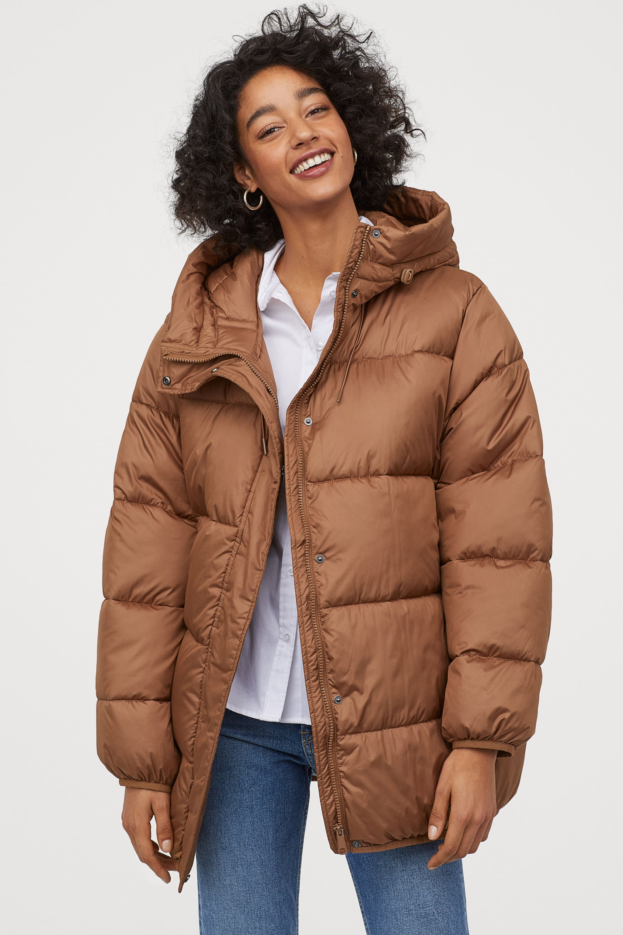 cheap for sale professional sale purchase newest H&M Padded Hooded Jacket | When It Comes to Styling Your ...