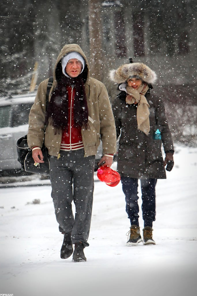 """Daniel Craig and Rachel Weisz ran into a small snowstorm during a trip to the gym in NYC on Monday. The couple protected themselves from the elements in warm jackets and snow boots. The weather was much different from the last time we saw Daniel and Rachel earlier this month, when they walked the red carpet together at the Golden Globes in sunny LA. Daniel attended the event to show support for Rachel, who was nominated for best actress, and Adele, who was up for best original song for the titular number from Skyfall. Although Rachel got bested by Jessica Chastain that night, Adele won for """"Skyfall,"""" marking her first Globes win. Daniel and Rachel will have a busy few months ahead of them with the release of Rachel's Oz: The Great and Powerful coming up in March."""