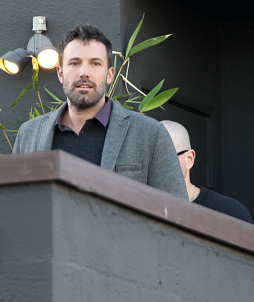 Ben Affleck left a meeting in LA.