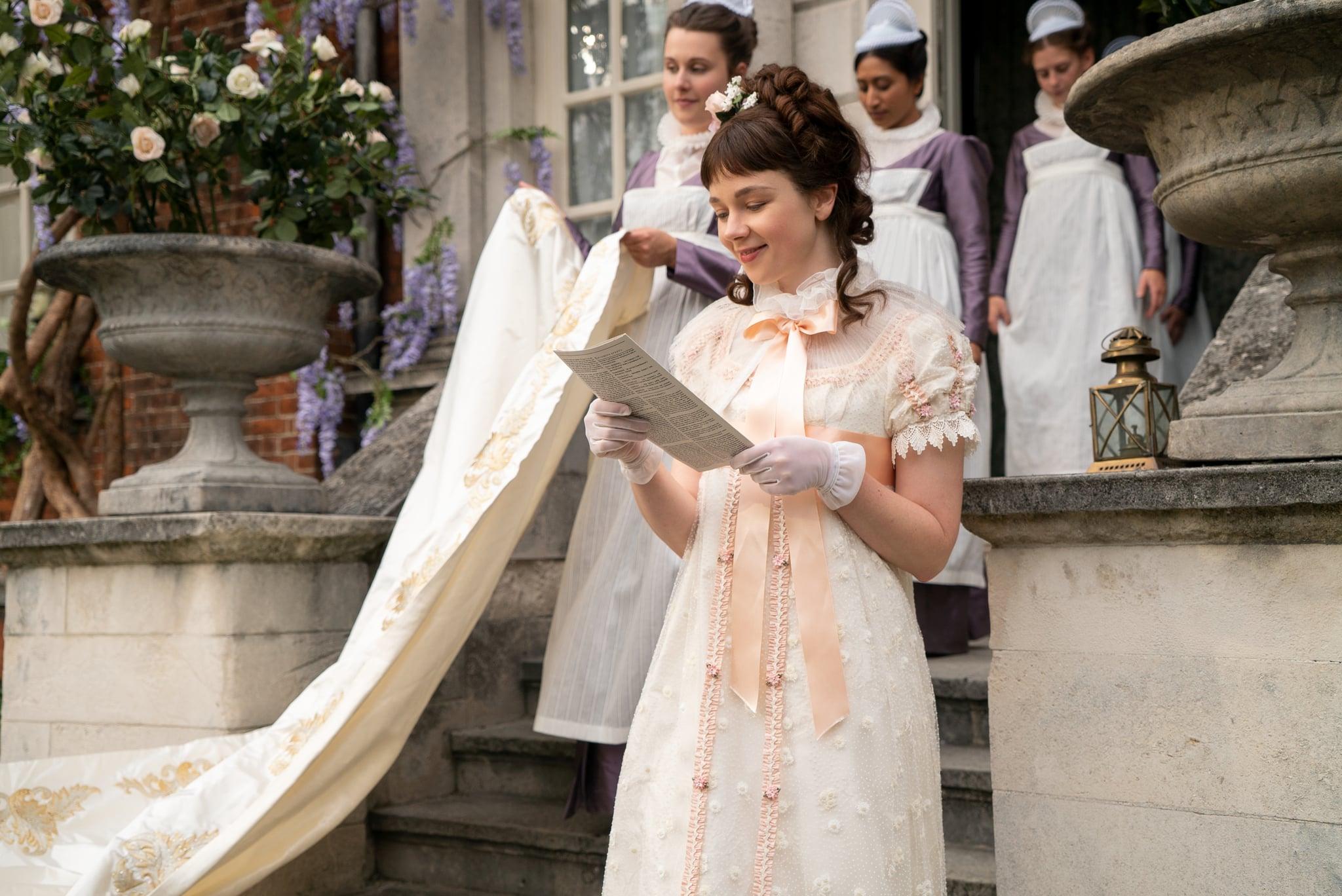BRIDGERTON CLAUDIA JESSIE as ELOISE BRIDGERTON in episode 101 of BRIDGERTON Cr. LIAM DANIEL/NETFLIX  2020