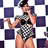 Katy wore a sexy unitard when she performed at the Kaaboo Del Mar Festival in September 2018.