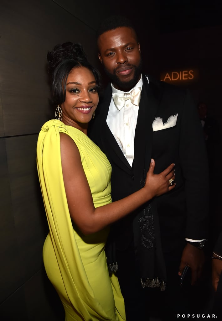 Pictured: Tiffany Haddish and Winston Duke