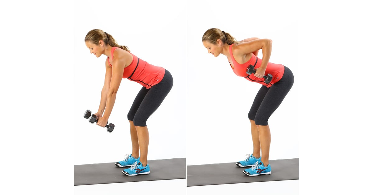 Circuit One: Bent-Over Row   The Beginner-Friendly Workout That Will Increase Your Fat Burn   POPSUGAR Fitness Photo 4