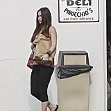 A pregnant Megan Fox picked up food to go at a deli in LA.