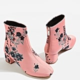 Topshop Blooming Floral Ankle Boots