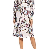 Halogen Wrap Dress in Pink Vibrant Floral
