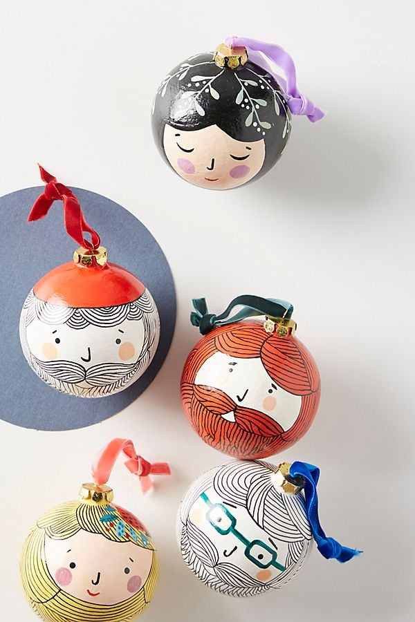 Friendly Face Ornament | Anthropologie Christmas Baubles ...