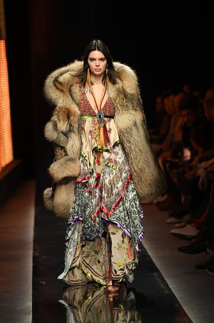 Kendall Jenner Wore a Furry Coat on the Runway, and Animal Rights Activists Are Extremely Angry