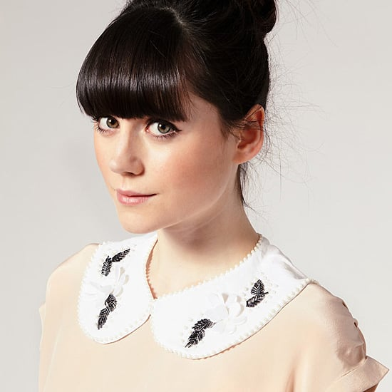 Asos Removable Pearl and Flower Collar, $26