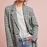 Cartonnier Plaid Long Blazer