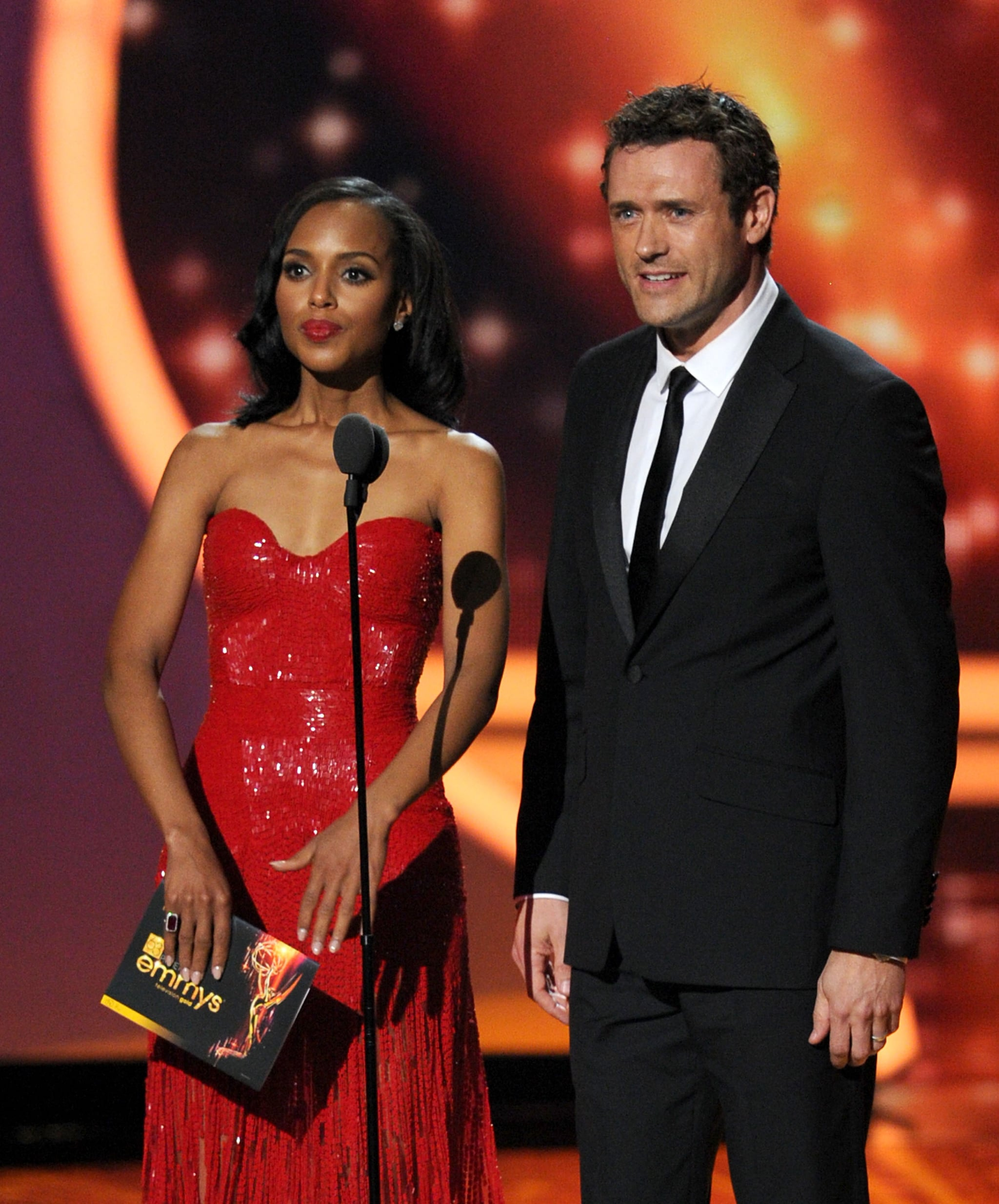 Kerry Washington and Jason O'Mara spoke at the 2011 Emmy Awards.