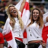 England fans cheered ahead of the game against Uruguay in Brazil.