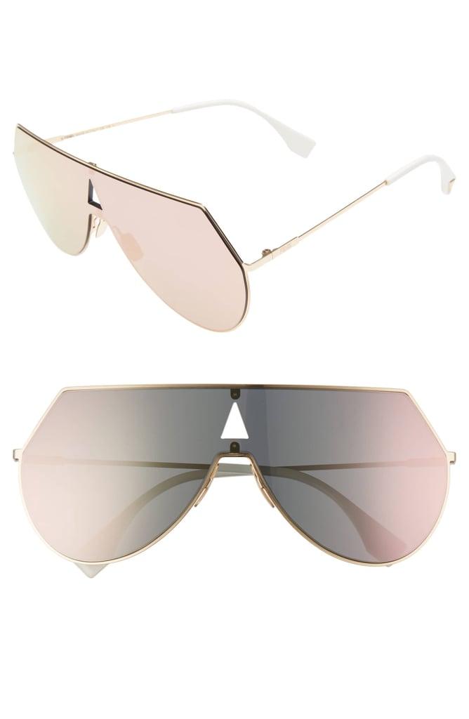 176a80d049d Fendi 99mm Eyeline Aviator Sunglasses