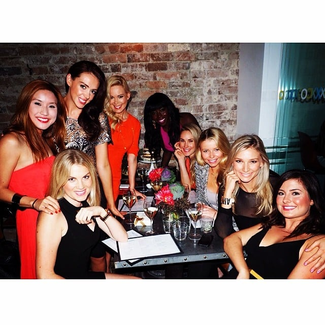"Source: Instagram user annaheinrich1 They may have spent months competing for the same man, but it seems as though there's still a lot of love among the women of The Bachelor 2013. Last week a group of them gathered to celebrate Katherine Schmidhofer's birthday at Mrs. Sippy in Sydney's Double Bay, including runner-up Rochelle Emanuel-Smith and winner Anna Heinrich, who won the heart of Tim Robards and has been dating him since the show ended late last year. Others who joined in on the celebrations include florist Sarah, brand strategist Emily, and Dr. Judy, who memorably received Australia's first-ever rose on the show. Anna and Tim have reached big milestones in their relationship, from spending important occasions together and with their families (like Christmas and birthdays) to travelling overseas; they recently went to California and arrived back in Australia just in time for the Logies, and they're currently soaking up the sun in Hawaii. They've also discussed marriage, and when Anna was told her Pallas Couture dress at the Logies looked bridal-esque, she told us, ""We were worried about that! But I was like, I've looked at dresses in the past, and it's been a lot of white dresses with sparkles. It's only because we're a couple that this looks like a wedding dress!"" She also revealed that her TV guilty pleasures are wedding shows, to which Tim commented, ""There are all these little hints, all the time."""