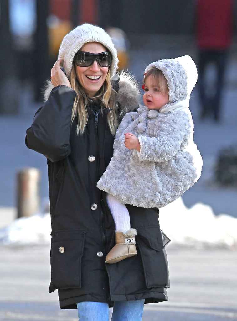 Pictures of Sarah Jessica Parker Walking Tabitha, Marion, and James Wilkie Broderick to School in NYC