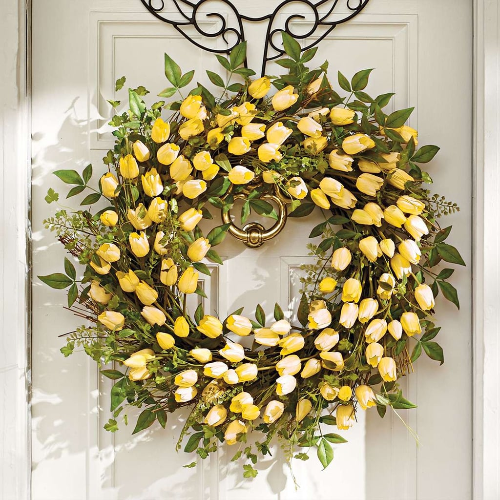 Yellow Tulip Wreath 129 Beautiful Spring Wreaths You