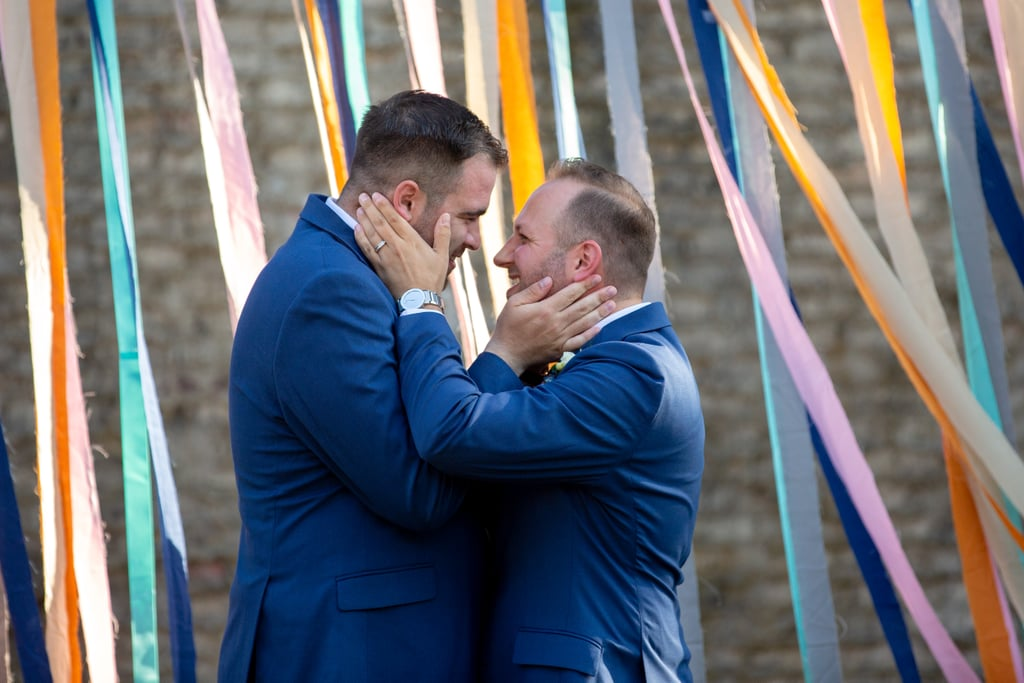 Zac and Shane tied the knot in the courtyard of Atalaya Castle at Huntington Beach State Park in South Carolina. See the wedding here!