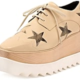 Stella McCartney Elyse Faux-Leather Star Creeper, Nude/Gold ($1,080)