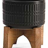 Ceramic Planter on Wood Stand