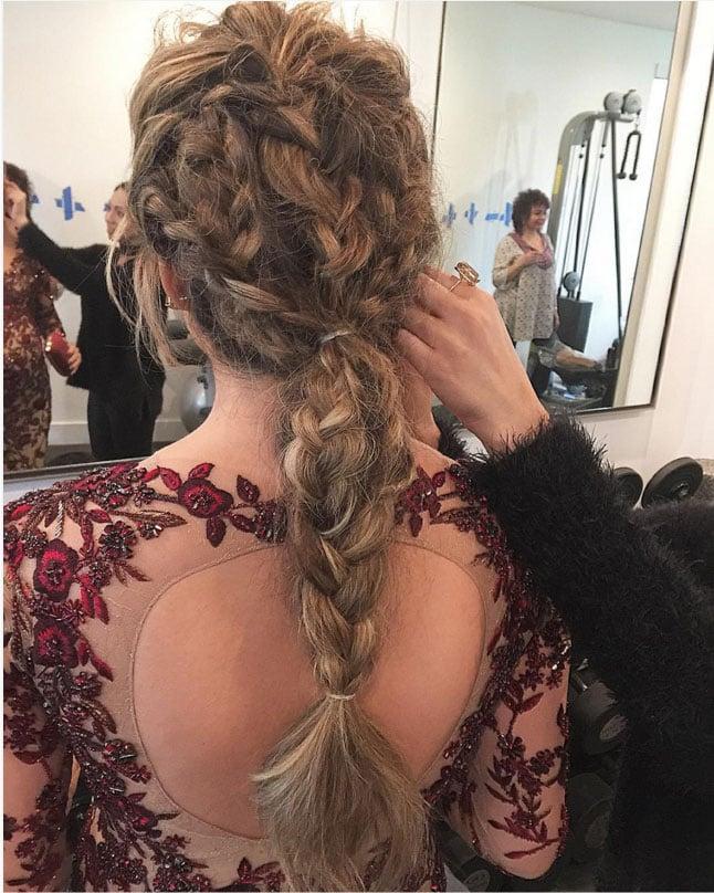 Chrissy Teigen Braids at the Oscars 2016