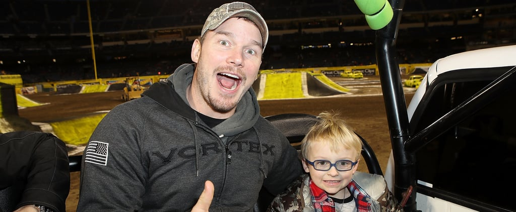 Chris Pratt and Son Jack at Monster Jam February 2018