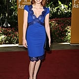 A sexy lace-trimmed blue-hued Pucci for the Hollywood Foreign Press Association's 2011 Installation Luncheon.