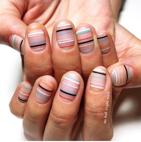 Stripe Nail Art: Striped Nail Art Ideas