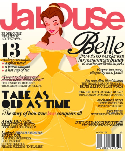 Magazine Cover Belle