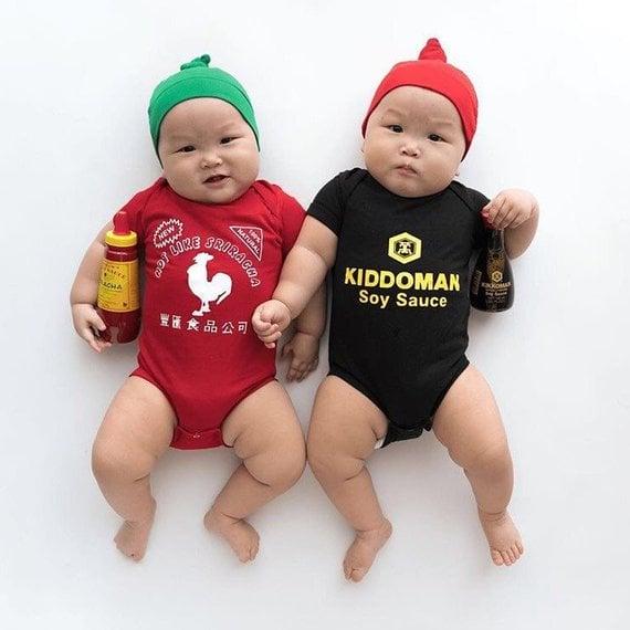 Sriracha and Soy Sauce Onesie Set