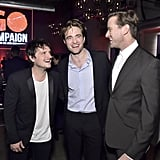 Josh Hutcherson, Robert Pattinson, and Armie Hammer