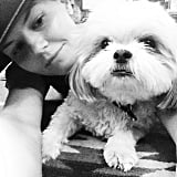 Jennifer Morrison took a photo with her pup for National Dog Day.  Source: Instagram user jenmorrisonlive
