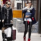 Miranda Kerr picked up baby Flynn.