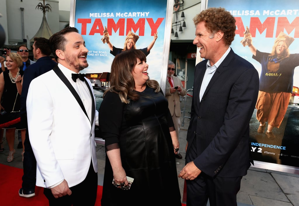 Melissa McCarthy, Ben Falcone, and Will Ferrell joked around on the Tammy red carpet on Monday in LA.