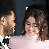 The Weeknd and Selena Gomez at Harper's Bazaar Icons 2017