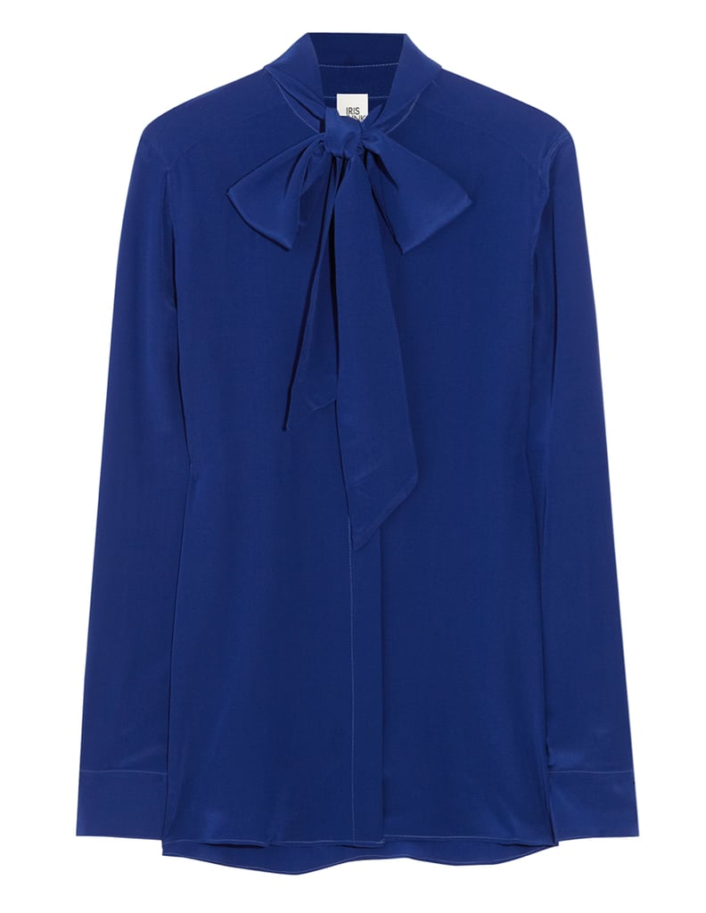 Iris & Ink Pussy Bow Blouse ($125)