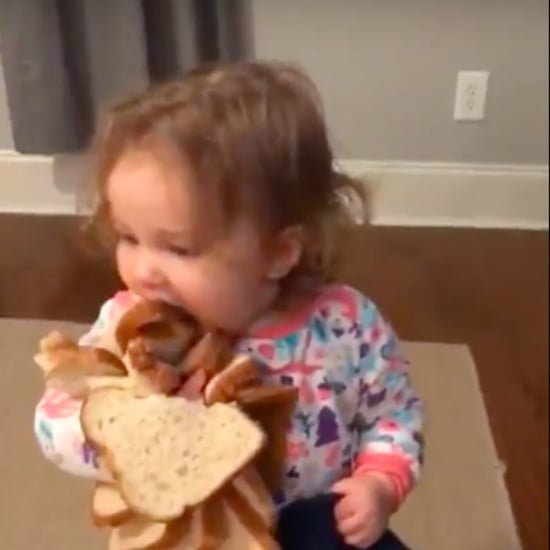 Video of Little Girl With Bread
