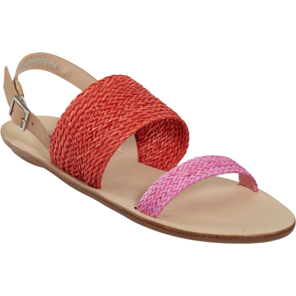 Your everyday sandal doesn't have to be boring. Play with brights like these pink and red Loeffler Randall flats ($109, originally $175).
