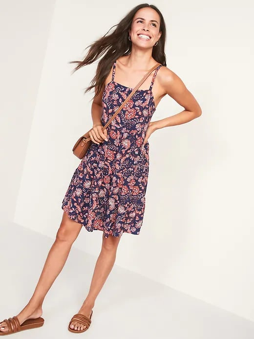 Old Navy Sleeveless Tiered Floral-Print Swing Dress