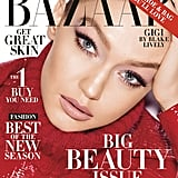 Gigi on the Cover of Harper's Bazaar's May Issue