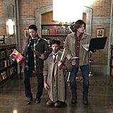You Alternate Between Being Sam, Dean, Castiel, and Crowley For Halloween